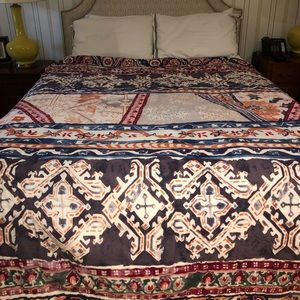 Anthropologie Quilt and Standard Shams Bedding Set